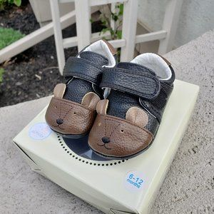 Jack & Lily Leather Bear Baby Mocs